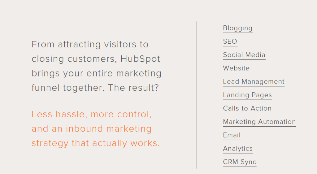 Hubspot Features