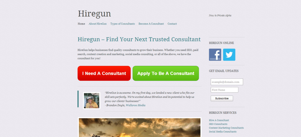 first-hiregun-homepage