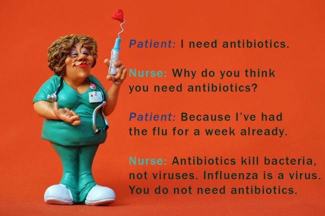 Nurse Patient Dialogue About Antibiotics