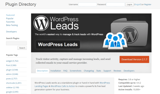 wordpress-leads