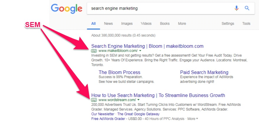 Google search display ads