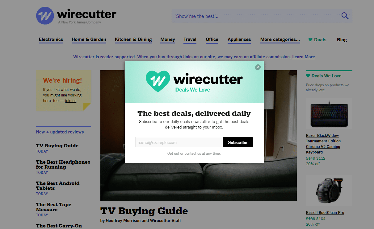 Wirecutter-Overlay-Box