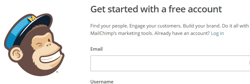MailChimp Get Started Free Account Signup