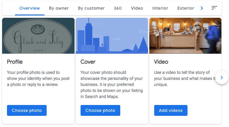 Add photos Google My Business