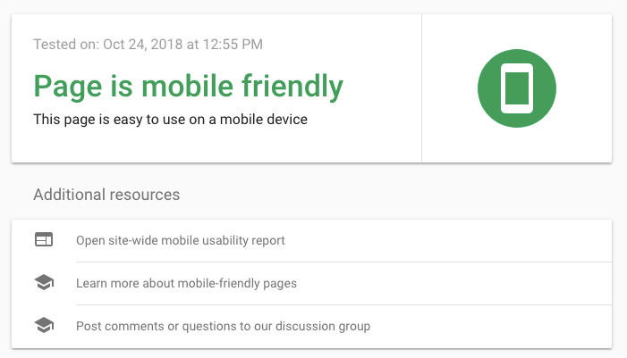 mobile-friendly answer