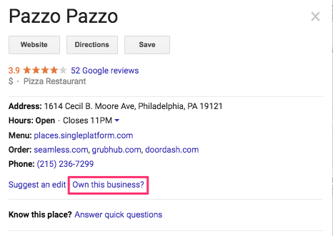 claiming storefront on Google My Business