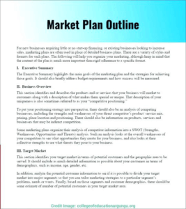 market plan outline