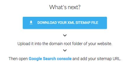 downloadable XML sitemap