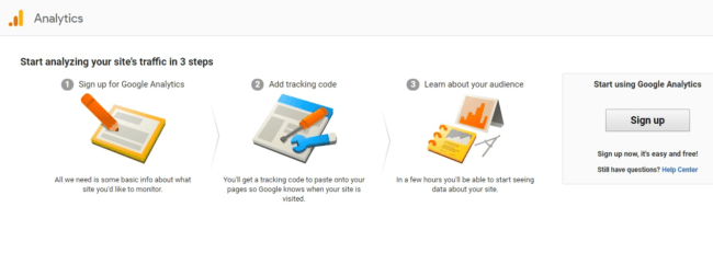 Google Analytics three steps to analyzing traffic
