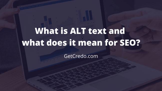 ALT text and SEO